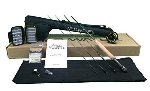 Wild Water Fly Fishing Complete 3/4 (7' Rod) Starter Package  http://fishingrodsreelsandgear.com/product/wild-water-fly-fishing-complete-34-7-rod-starter-package/  You won't find another 3/4 starter package out there at this price that has everything that ours has. A 4-piece 7 foot rod, a large arbor reel with drag, preinstalled line, backing and leader, a rod sock, a rod case, a fly box, 3 Black Ants, 3 Parachute Adams, 3 Gold Ribbed Hare's Ear Nymphs, a spare le