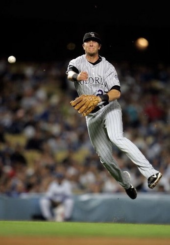 Troy Tulowitzki - Colorado Rockies  One of their favorites!  Everyone in the family has a Tulo jersey:)