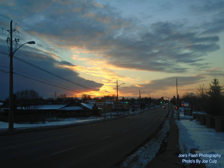 The First Sunset over Belleville Ontario of 2016. HAPPY NEW YEARS.