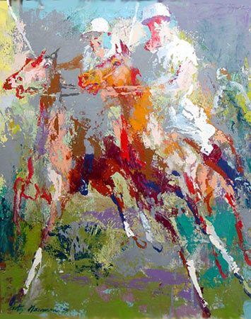 Del Carroll, Polo Match by LeRoy Neiman