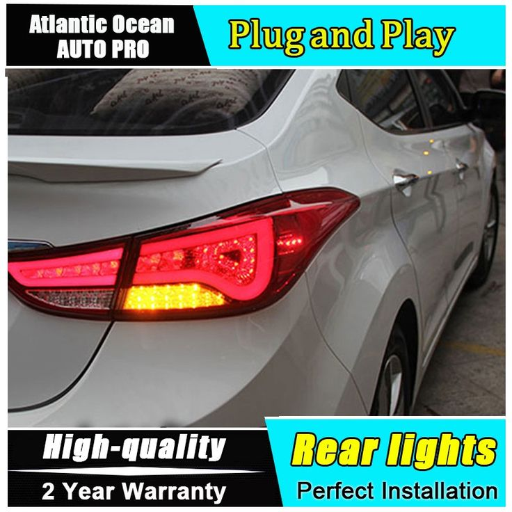 272.41$  Buy now - http://ali6d9.worldwells.pw/go.php?t=32666347631 - A&T Car Styling for Hyundai Elantra Taillights BMW Design New Elantra MD Tail Lamp Rear Lamp DRL+Brake+Park+Signal led lights 272.41$