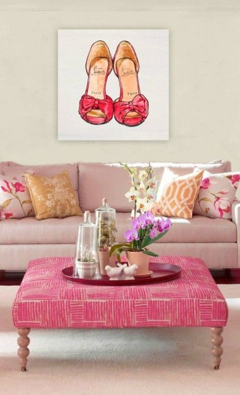 67 best Vivacious and Cute Feminine Living Rooms images on Pinterest ...