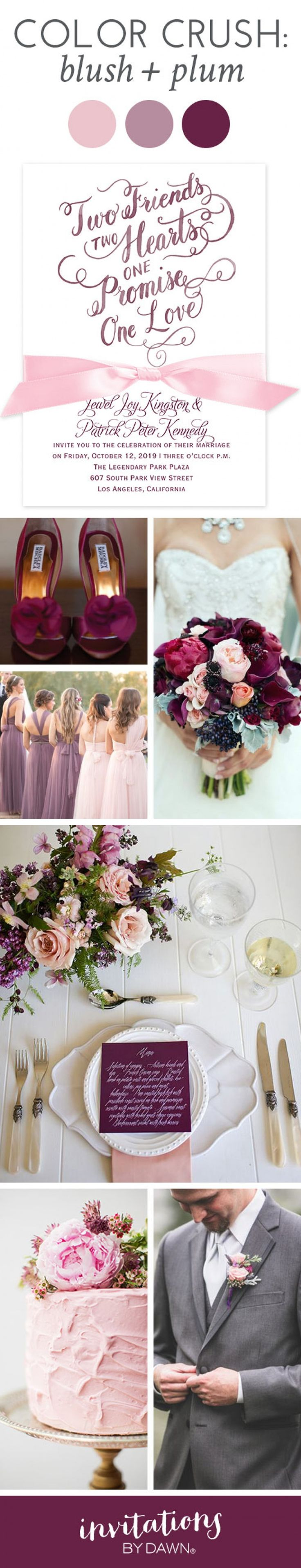 2274 best cheap wedding invitations images on pinterest dream color crush blush and plum izmirmasajfo