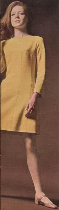 Yellow Gold Dress, Front Panel, The Forget Me Knot