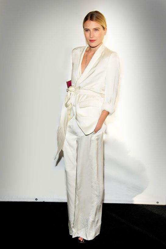 Dree Hemingway in yves Saint Laurent