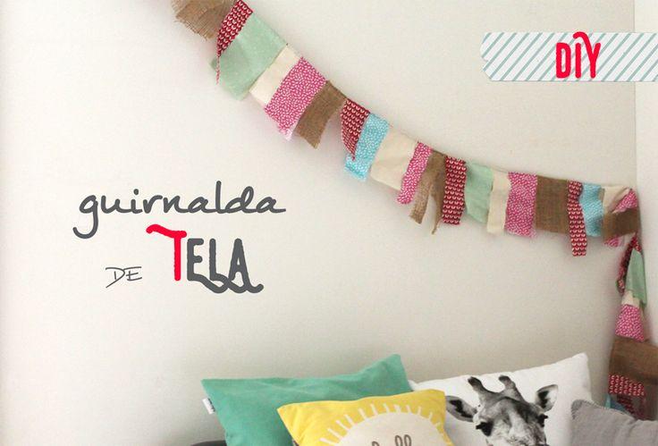 GUIRNALDA DE TELA   Cute Edition