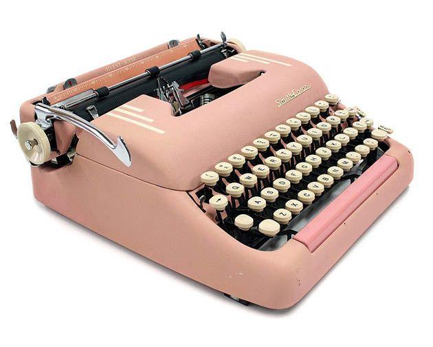 Vintage 1955 pink smith Corona Silent Super typewriter