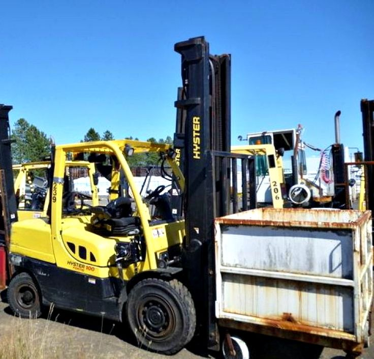 best images about forklifts trucks diesel let this 2009 hyster mdl h100xm forklift do the heavy lifting