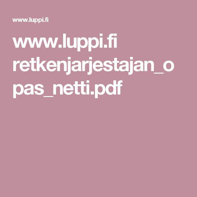 www.luppi.fi retkenjarjestajan_opas_netti.pdf