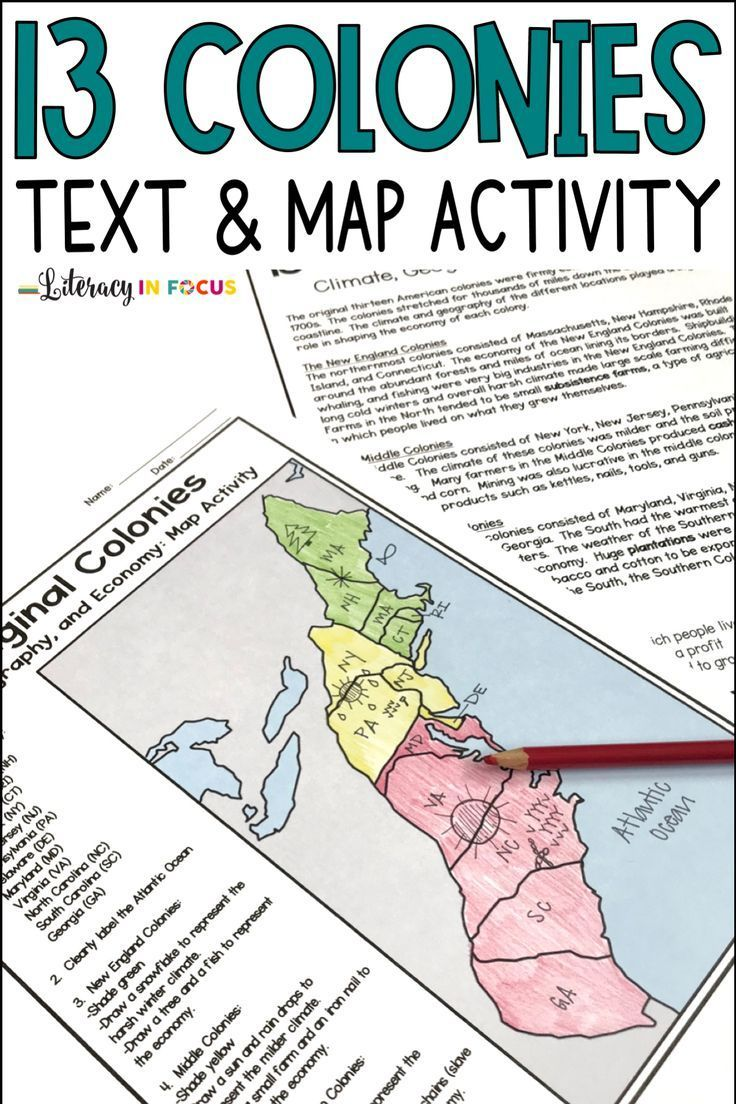 13 Colonies Map And Activities Distance Learning In 2020 Social Studies Notebook 13 Colonies Lessons Social Studies Elementary