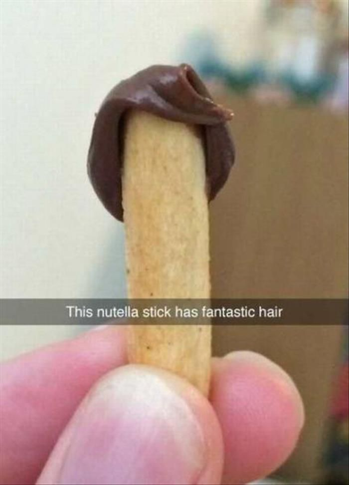This Nutella has better hair than most of the boys in my school