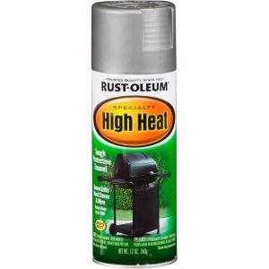 Rust-Oleum Specialty 12 oz. Silver High Heat Spray Paint to give the fireplace doors a facelift