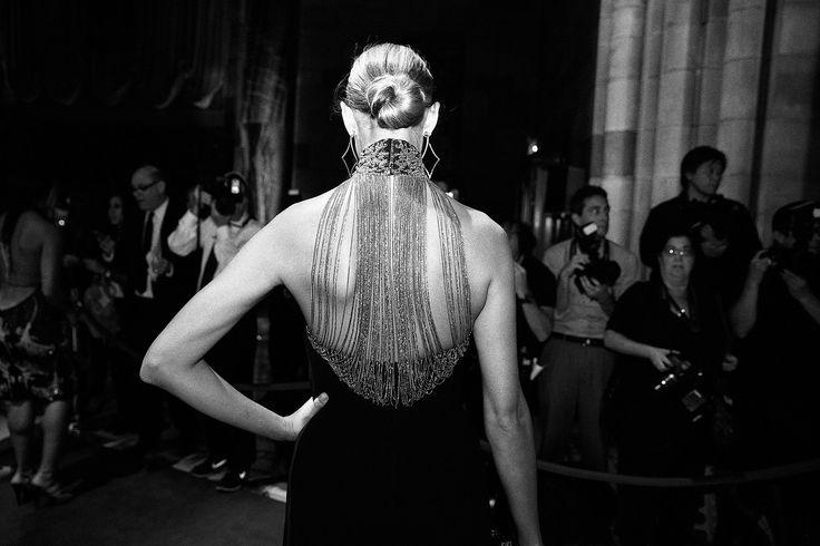 A detail shot from Lauren Remington Platt's Ralph Lauren dress