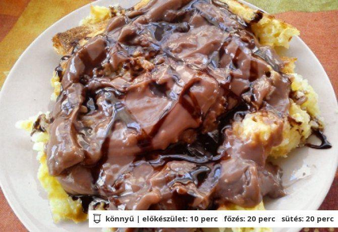 Rizskoch csokipudinggal