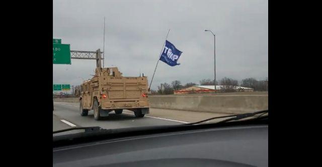 Confirmed: Military Vehicle Flying Trump Flag Belongs To SEAL Unit