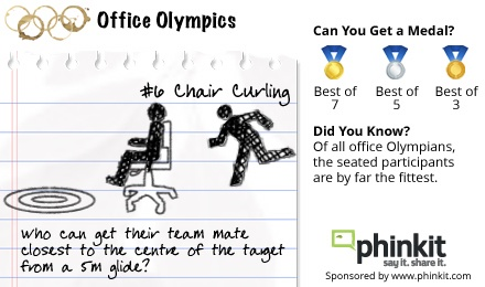 Chair Curling transcends the winter sports arena and glides into the Office Olympics.