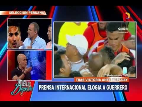 Prensa internacional elogió a Paolo Guerrero tras su desempeño en Perú vs. Uruguay - YouTube