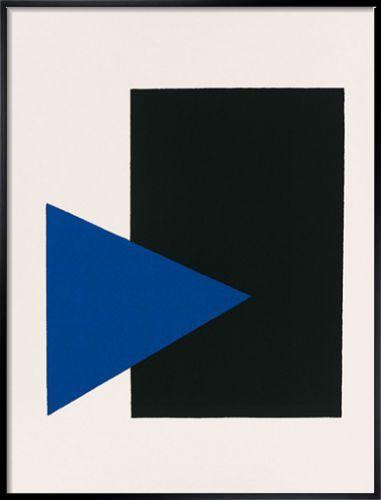 Black rectangle, blue triangle by Kazimir Malevich - silkscreen print from kingandmcgaw.com