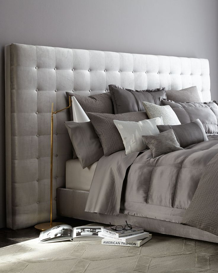 Park Avenue California King Bed, Gray - Haute House