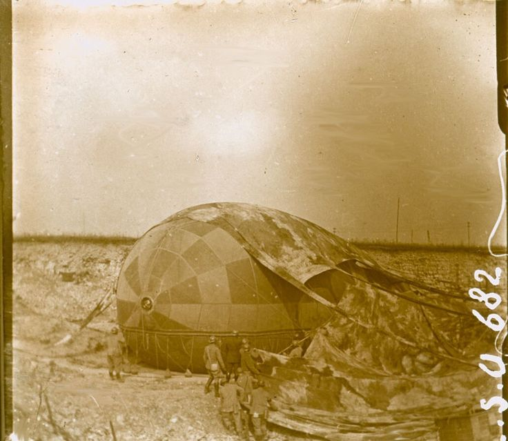 WWI, Camouflaged Balloon