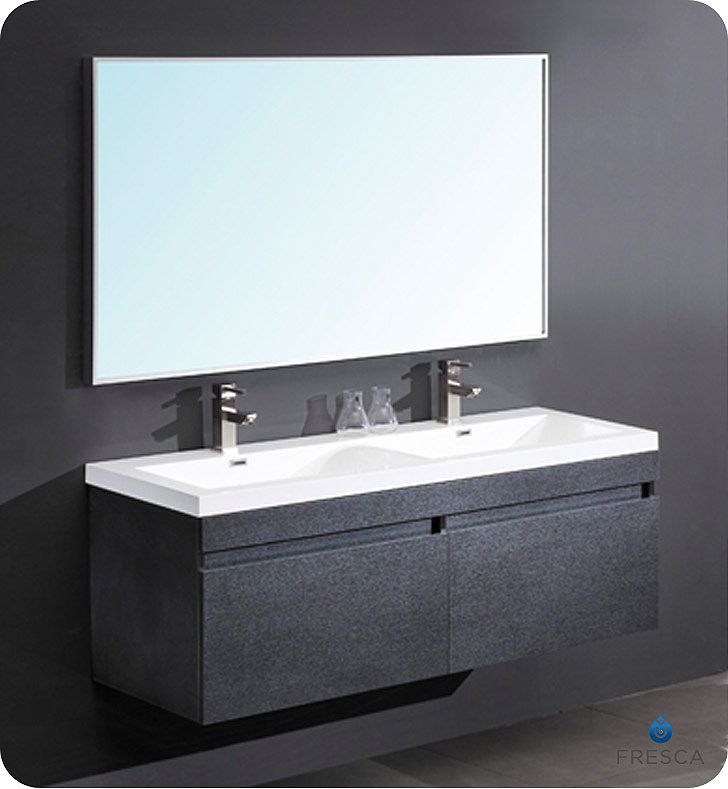 Photo Gallery Website Fresca Largo Black Modern Bathroom Vanity With Wavy Double Sinks Home Depot Canada