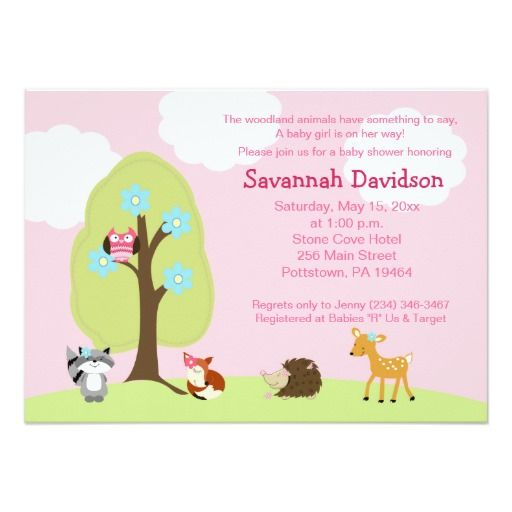 263 best baby shower images on pinterest | animal baby showers, Baby shower invitations