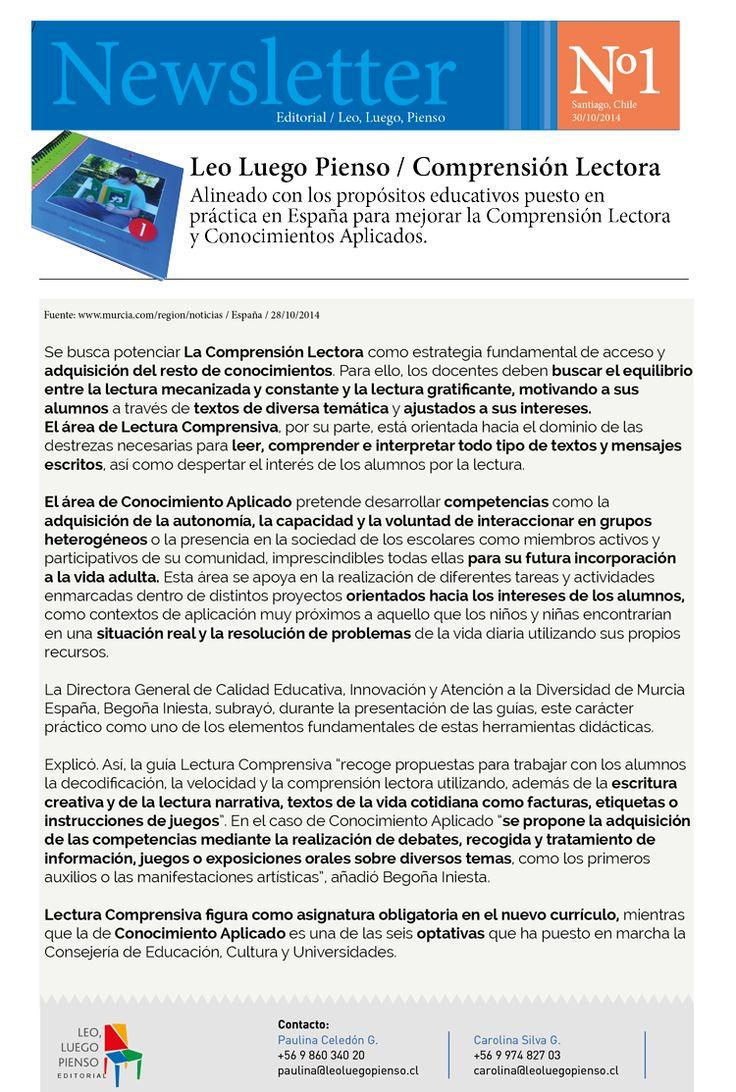 LEO, LUEGO PIENSO alineado con los programas españoles que recién se están aplicando en Murcia.