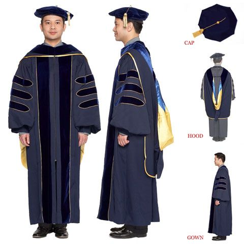 Get my PhD! (University of California Complete Doctoral Regalia)-- robes now every bit as obsolete as the degree itself