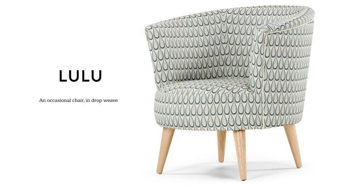 Lulu Scoop Chair, Drop Weave | made.com