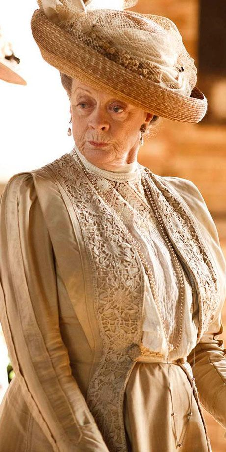 DOWNTOWN ABBEY  Violet Crawley, Dowager Countess of Grantham 2010 to present.