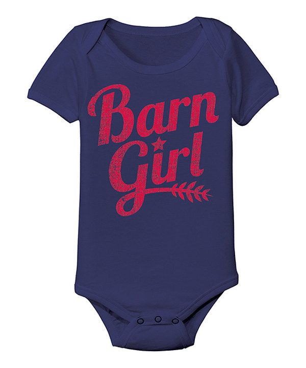 Take a look at this Country Casuals Navy 'Barn Girl' Bodysuit - Infant on zulily today!