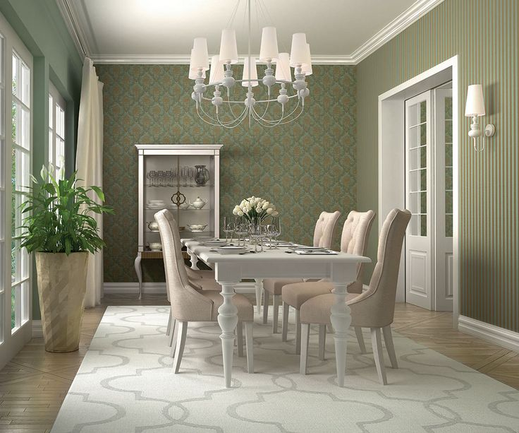 Green formal dining space inspiration