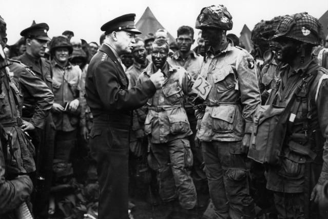 A large compilation of pictures of D-Day, including preparation, crossing the English Channel, landing on the beaches at Normandy, and casualties.