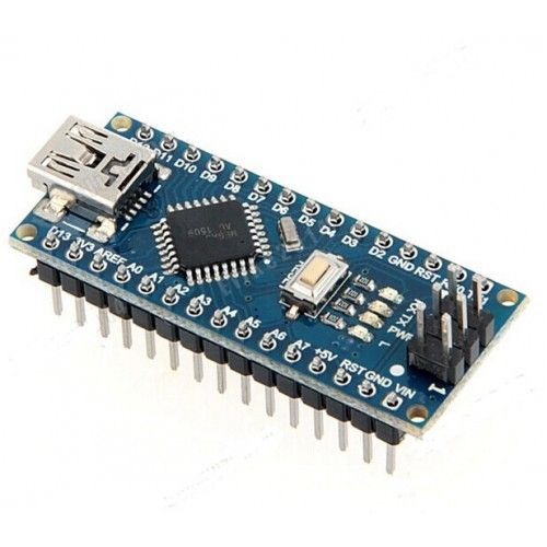 This is a low cost Arduino nano clone. It uses CH340 USB to serial chip instead of FTDI USB to serial chip. The Arduino Nano is a small, complete, and breadboard-friendly board based on the ATmega328 (Arduino Nano 3.x). It has more or less the same functionality of the Arduino Duemilanove, but in a different package.