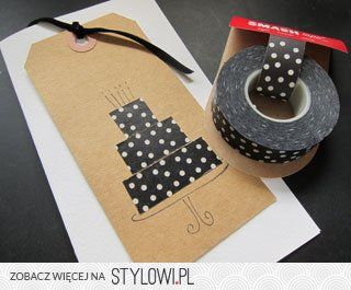 great use for Washi tape! | DIY cards na Stylowi.pl