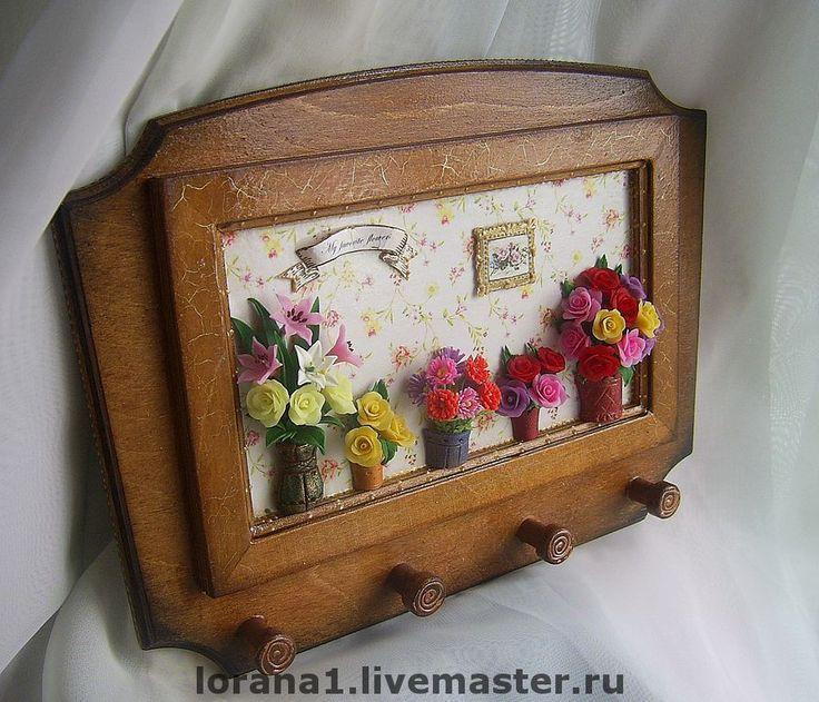 """Купить Ключница """" Мои любимые цветы"""" - ключница, ключница с цветами, украшение интерьера"""