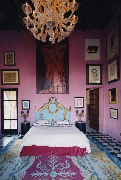 a guest suite with Julian Schnabel original design bed