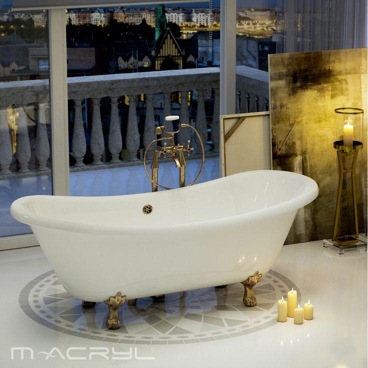 A Romantica #térbenállókád soha nem megy ki a divatból. Minden fürdés egy időutazás a századelő legszebb napjaiba. Középlefolyója miatt romantikusan két személyes. . . #romantica #romanticamacryl #macryl #macrylkád #macrylkádak #térbenállókád #térbenálló #akrilkád #fürdés #fürdőszoba #relax #kikapcsolódás #lakberendezés #inspiráció #belsőépítészet #szabadonálló #minőség #design #health #bathroom #interiordesign