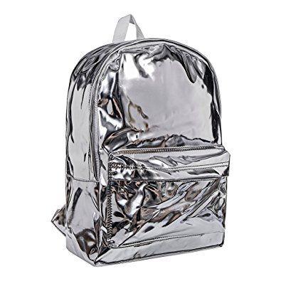 Resultado de imagen para mochila plateada