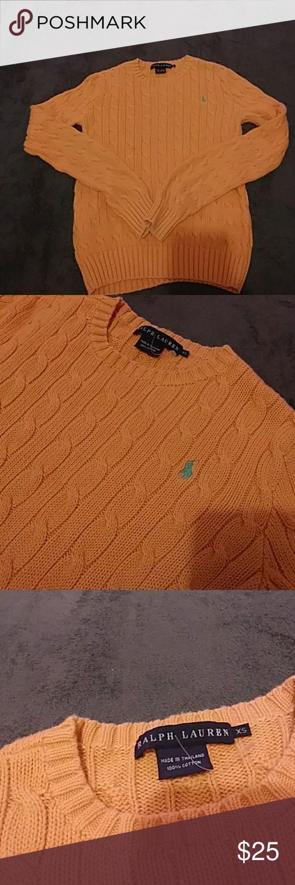 Ralph lauren womens xs 100% cotton sweater Women's xs 100% cotton Ralp Lauren peach sweater Ralph Lauren Sweaters Crew & Scoop Necks