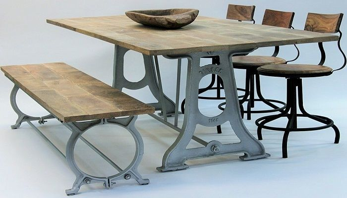 Rustikt Vintage Spisebord - Rustikke Møbler fra www.indieliving.dk