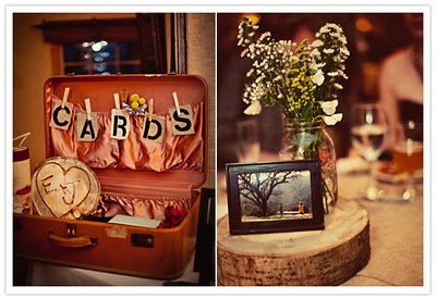 LOVE the suitcase as a card box!