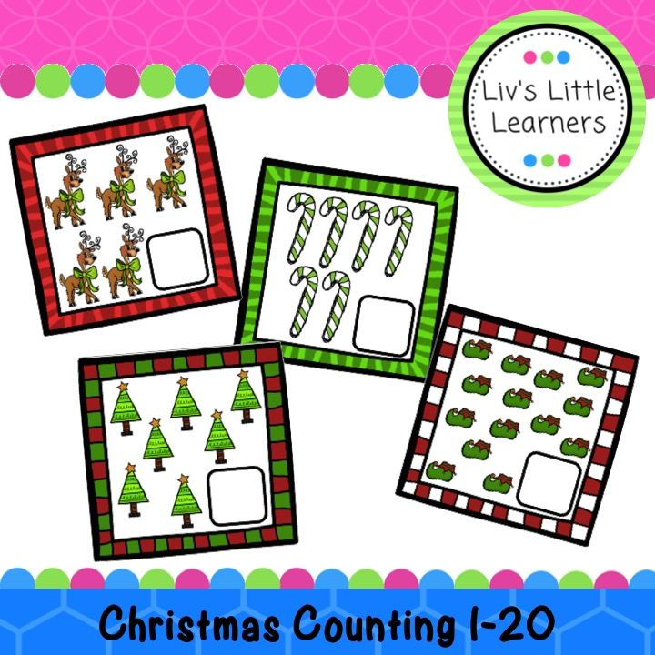 Christmas   Counting   1-20   Activity   Printable   Early Childhood Education   Numbers   Number Writing   Math