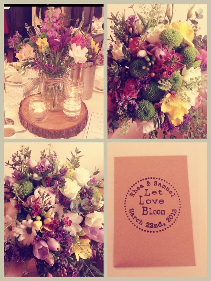 Rustic wedding - flowers by me - Keira