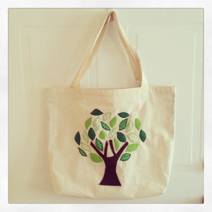 Bolsa de género (Tote bag) Diseño árbol.
