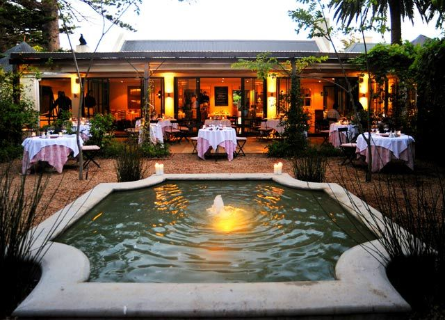 La Colombe Restaurant. Constantia Uitsig. Cape Town.