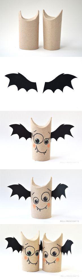 Decoración simple de halloween / Vía http://mollymoocrafts.com