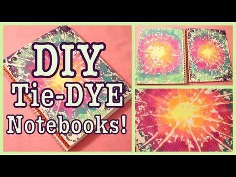 ▶ DIY: TIE-DYE Notebooks! Back to School - YouTube