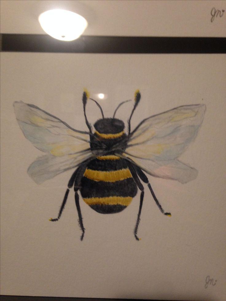 Bee. Watercolour