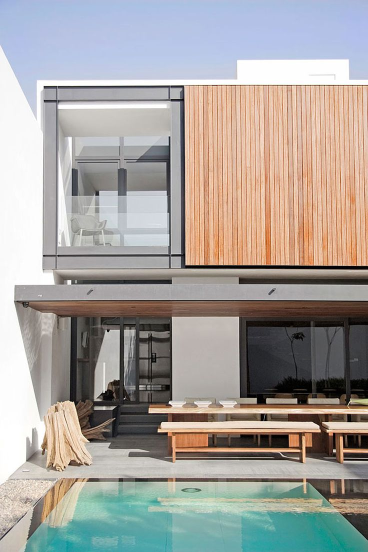 Architecture, Awesome Contemporary House Design With Pool Accessed From  Private Sitting At The Second Floor